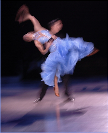 Dancing blue