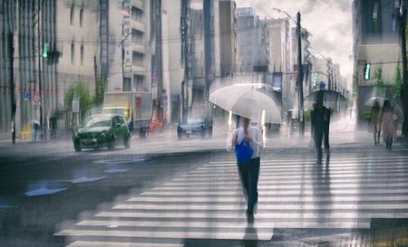 Pluie sur Tokyo